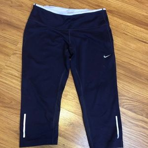 Nike Purple Knee Length Leggings